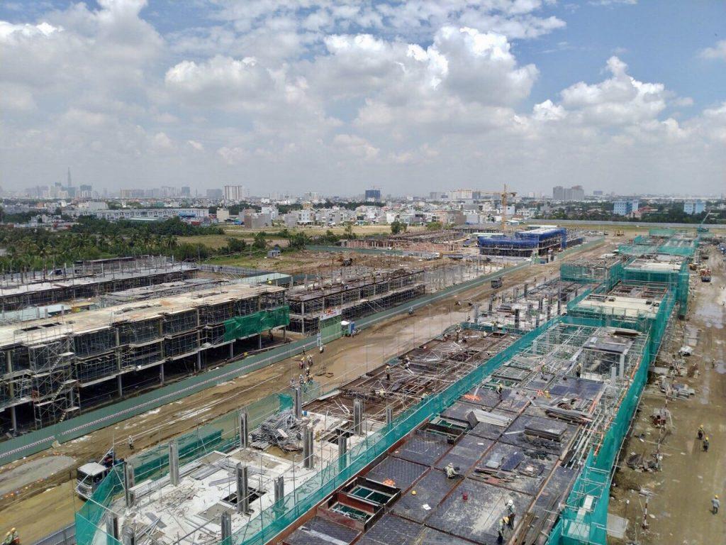 tiến độ xây dựng dragon village