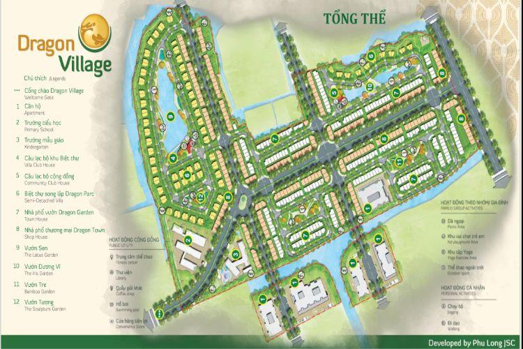 mặt bằng tổng thể dự án dragon village