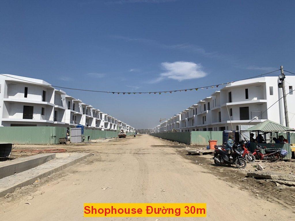 tiến độ shophouse 30m dragon village