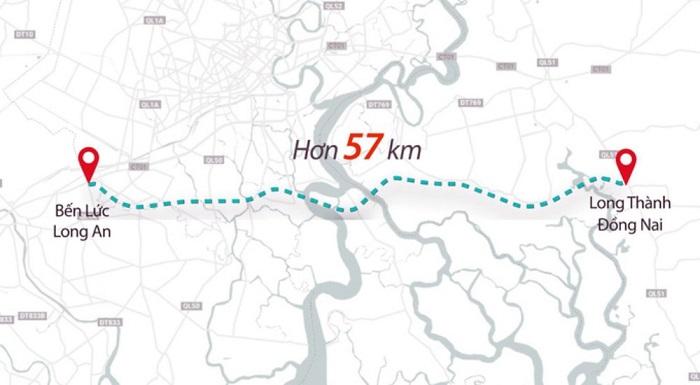 Bản đồ cao tốc Bến Lức Nhơn Trạch