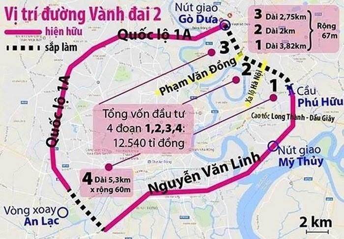 Bản đồ đường vành đai 2