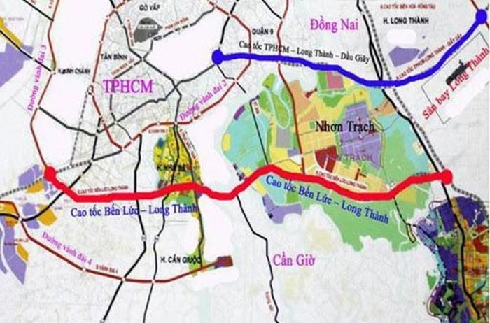 Bản độ đường cao tốc Dầu Giây -- Tân Phú