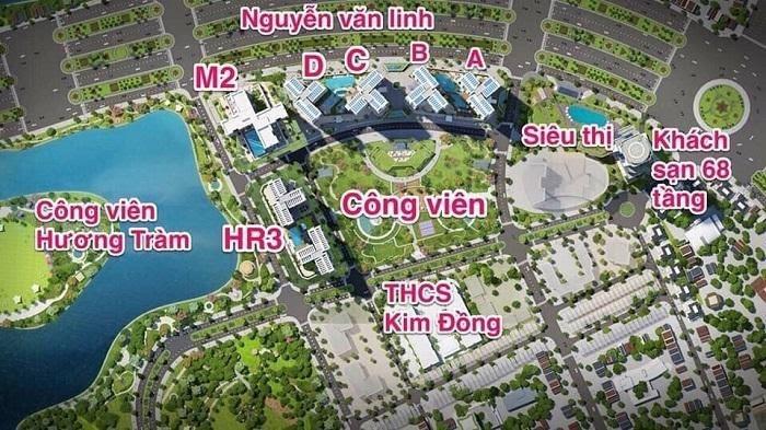 Đường Nguyễn Văn Linh tập trung rất nhiều dự án lớn nhỏ