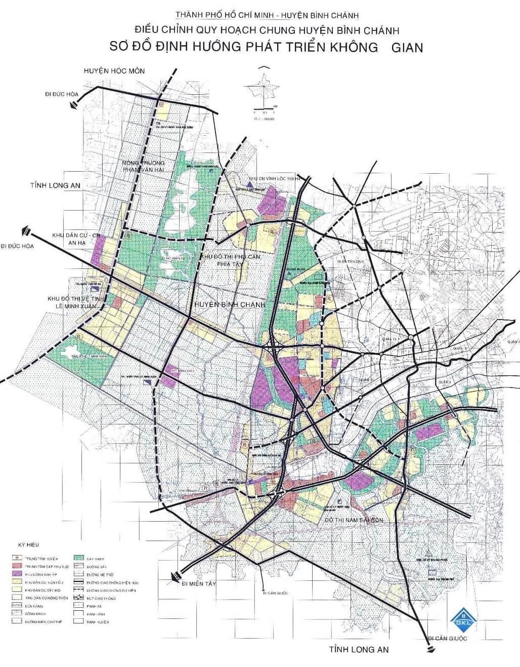 Bản đồ quy hoạch bình chánh 2020