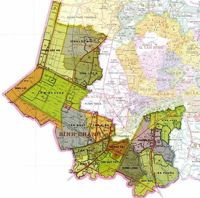 huyện bình chánh thuộc quận nào