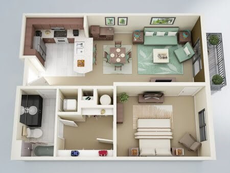 căn hộ 2 phòng ngủ tại Vinhomes Gallery