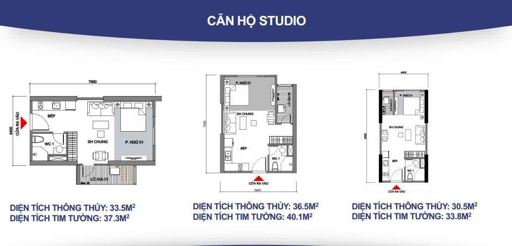 Căn hộ Studio – 1WC