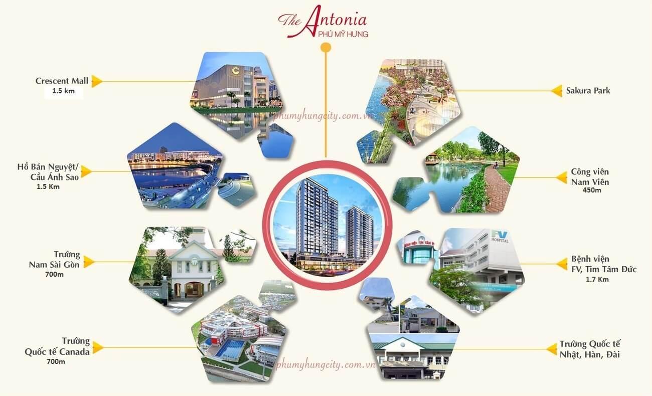 kết nối vùng dự án The Antonia