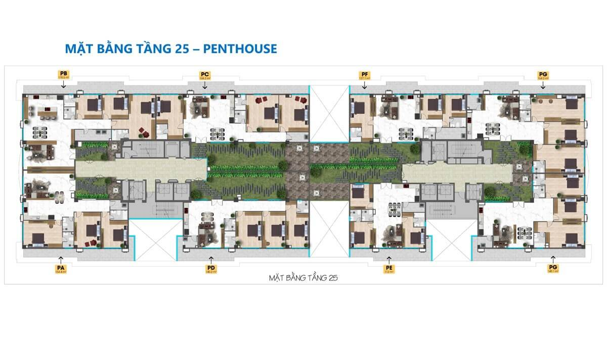 mặt bằng Penthouse Dự án Tam Đức Plaza