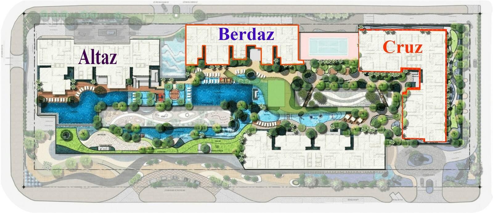 mặt bằng thiết kế dự án Feliz En Vista Quận 2
