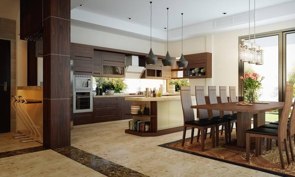 phòng bếp căn hộ Galaxy 9