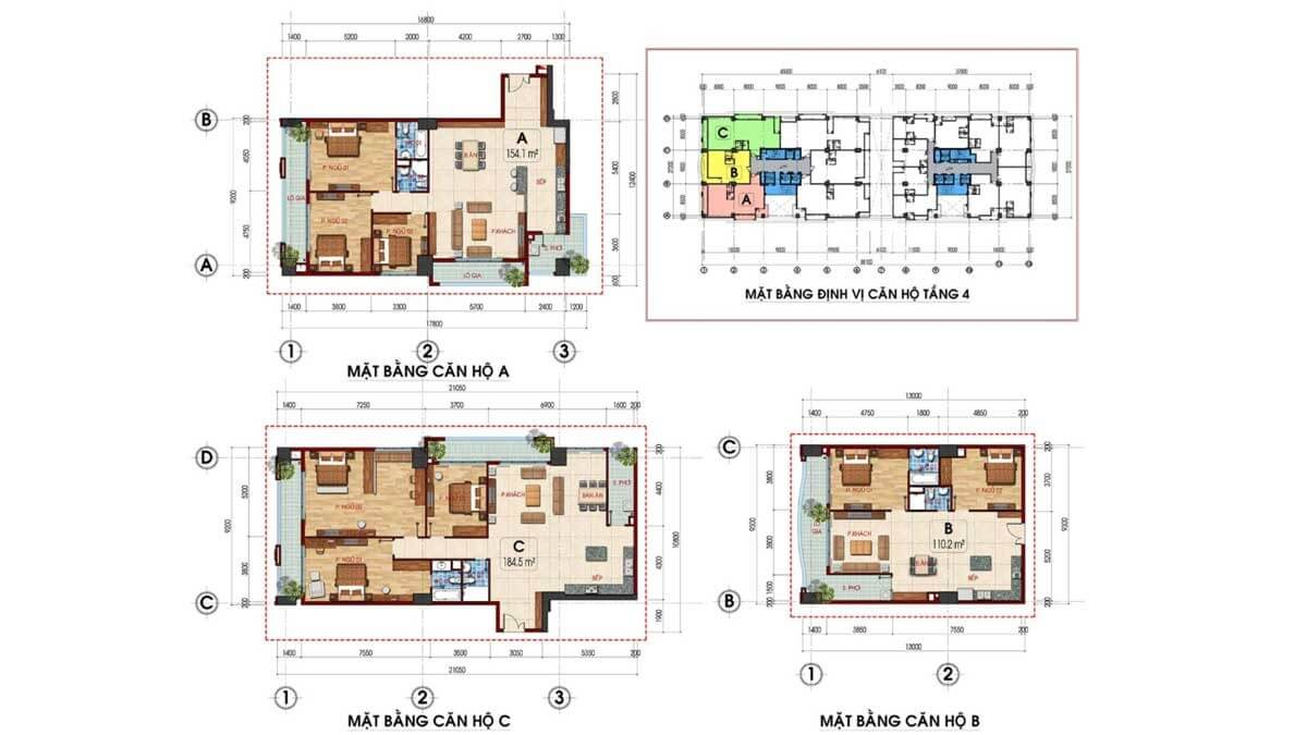 thiết kế căn hộ Dự án Tam Đức Plaza