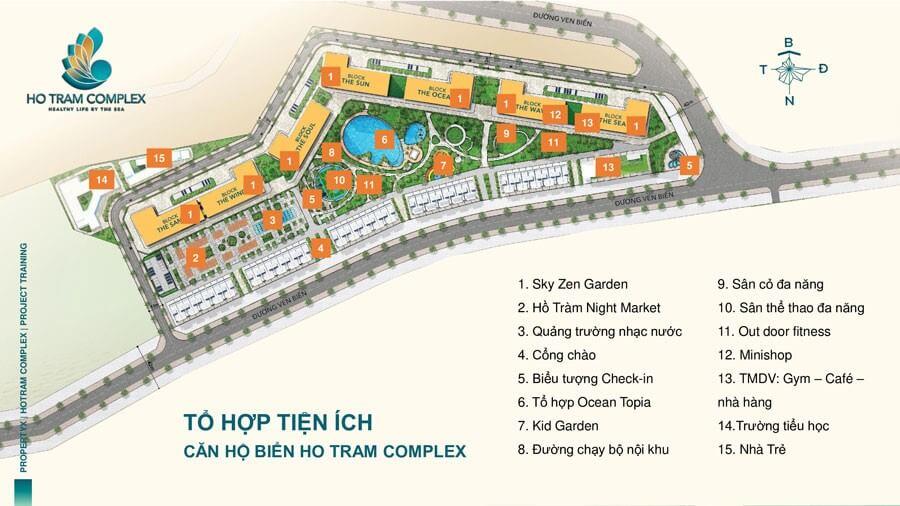 tiện ích Hồ Tràm Complex