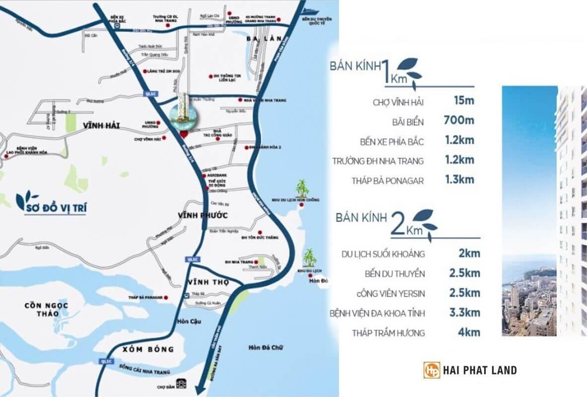 vị trí Belle Hill Nha Trang