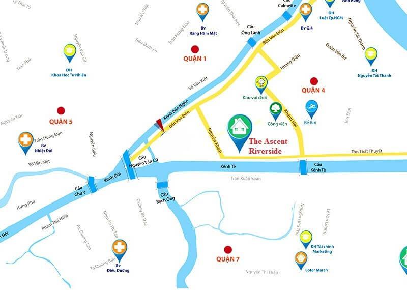 vị trí căn hộ Ascent Riverside