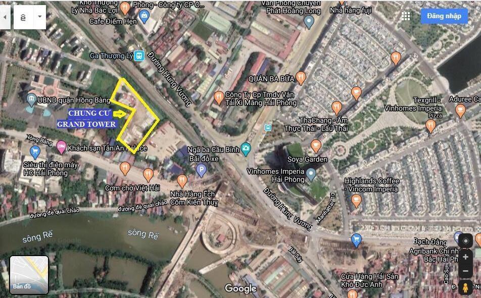 vị trí Dự án Hoàng Huy Grand Tower