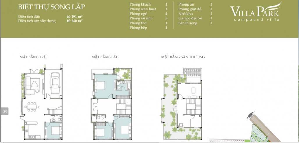 biệt thự song lập dự án Villa Park Quận 9