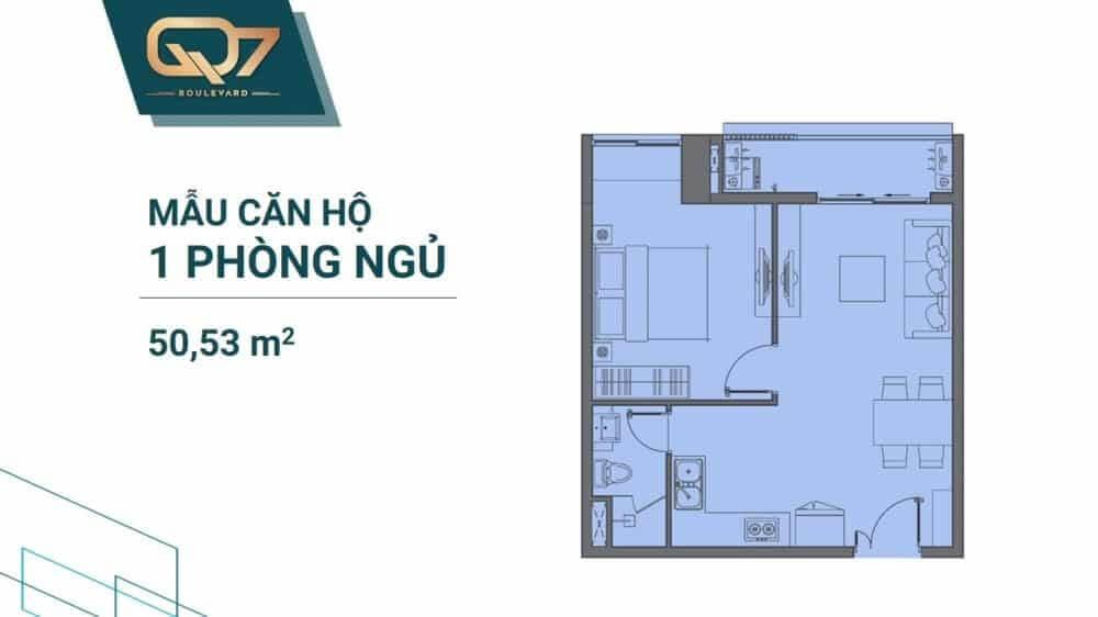 căn hộ 1 phòng ngủ Q7 Boulevard