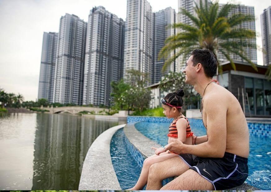 hồ bơi Villas Vinhomes Central Park