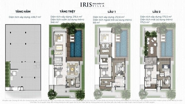 IRIS hoa Diên vỹ Villa