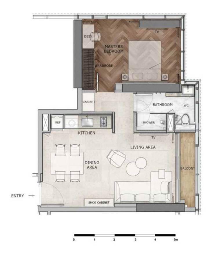mặt bằng căn hộ dự án Ascott The Residence
