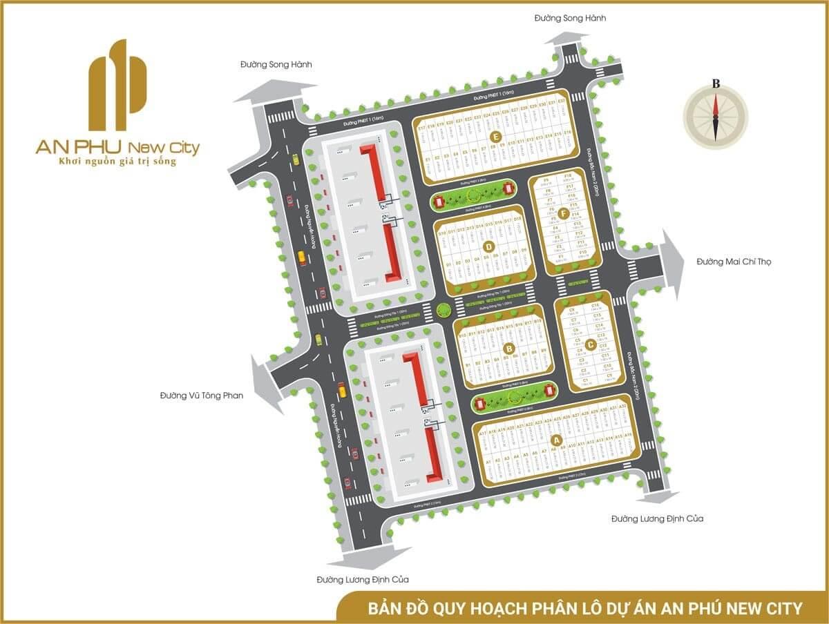 mặt bằng dự án An Phú New City