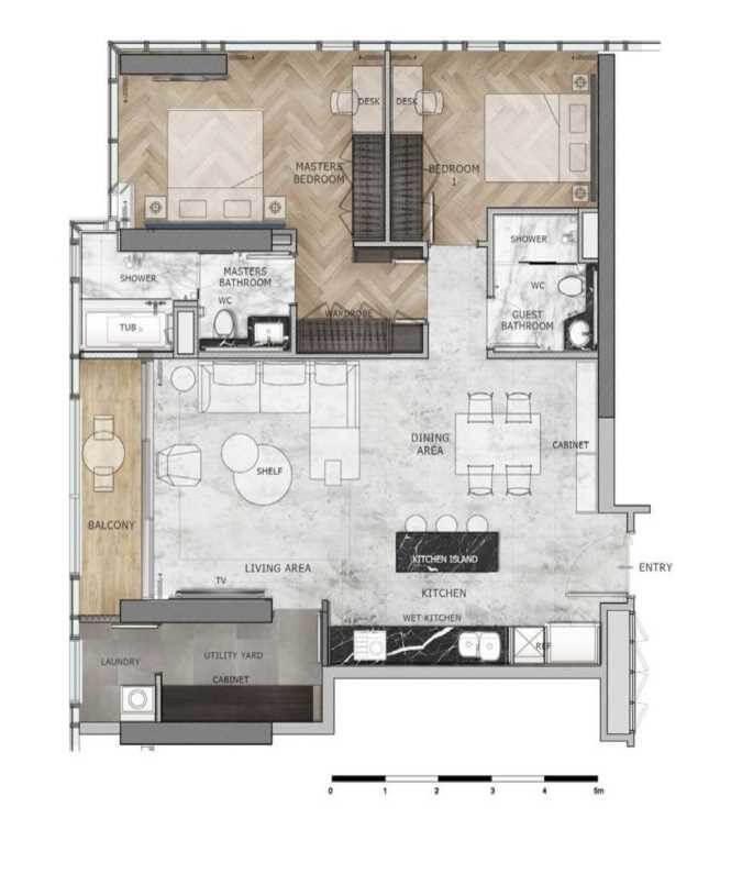 mặt bàng dự án Ascott The Residence
