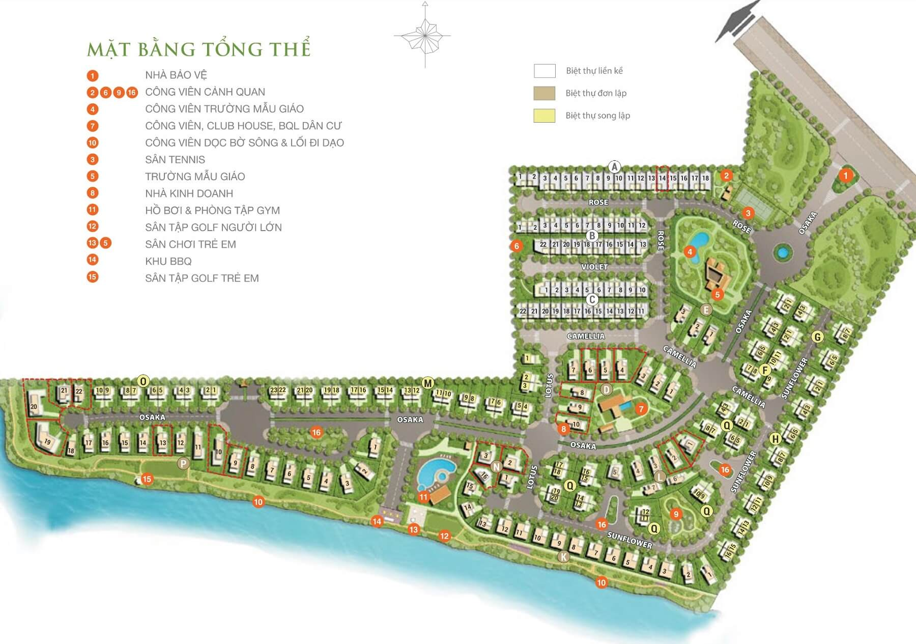 Mặt bằng dự án Villa Park Quận 9