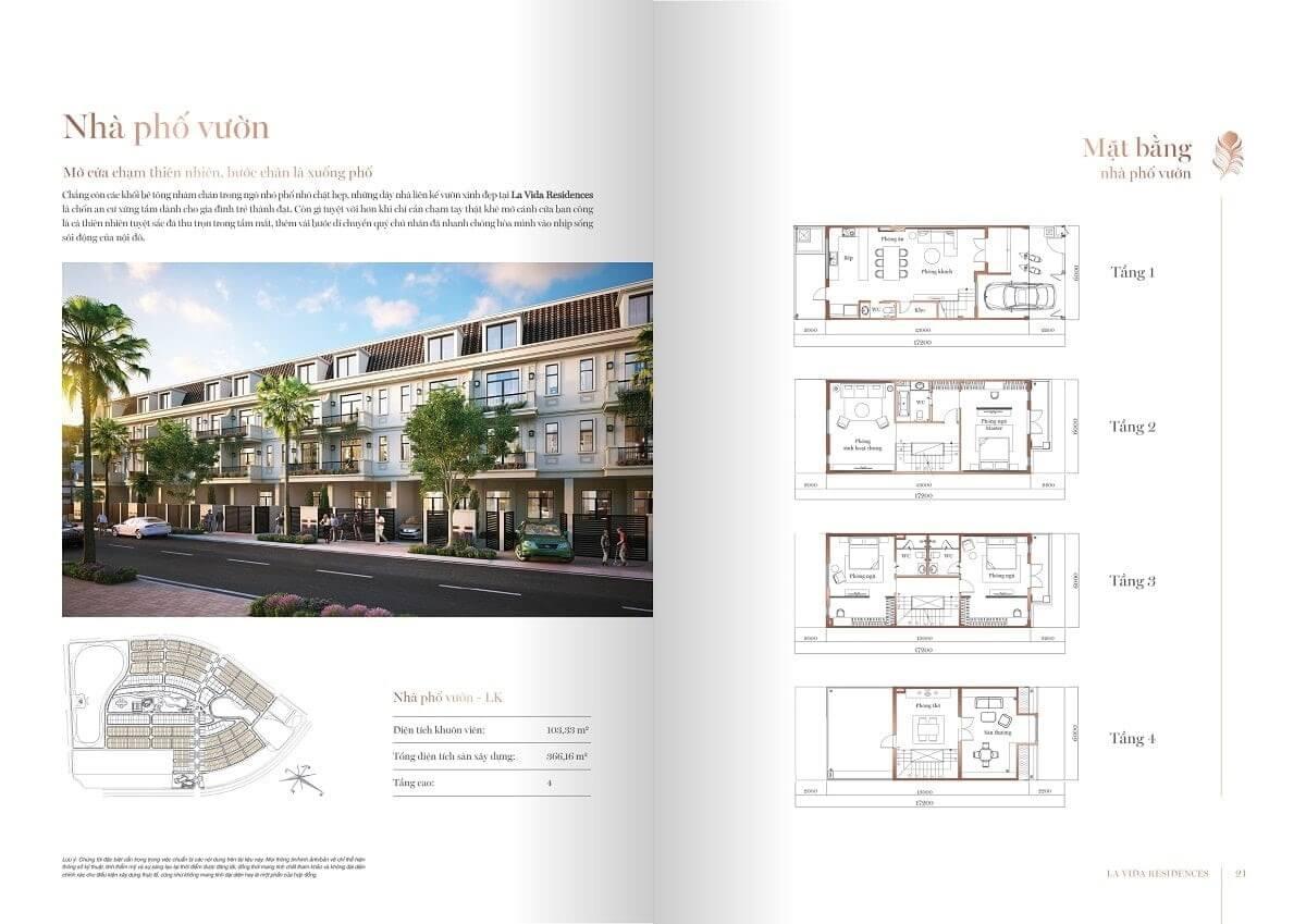 Thiết kế nhà phố vườn