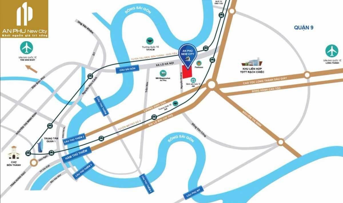 vị trí An Phú New City