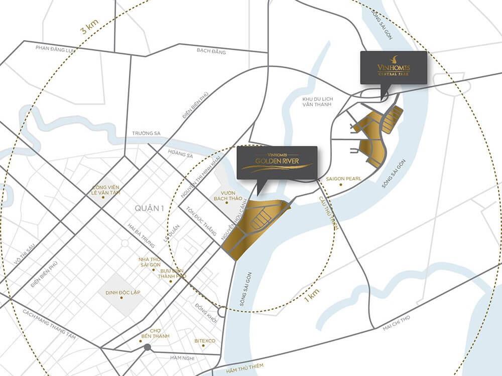 Vinhomes Golden River địa chỉ