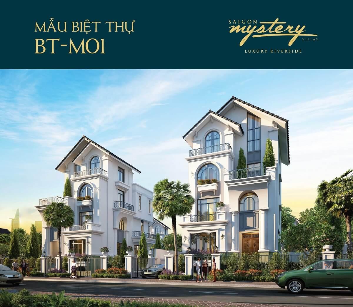 biệt thự Phối cảnh biệt thự tại dự án Saigon Mystery Villas