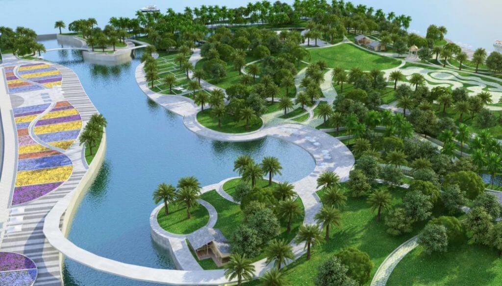 cong vien Palm Marina