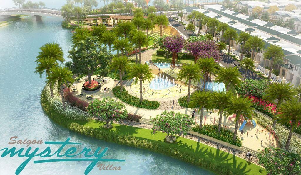 Công viên ven sông tại dự án Saigon Mystery Villas