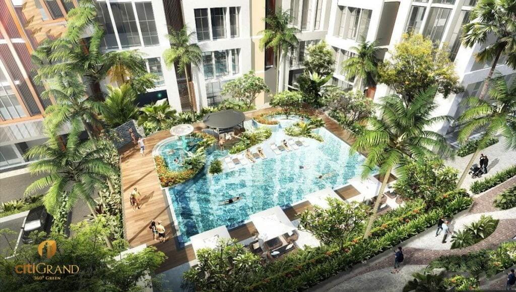 hồ bơi dự án Citi Grand