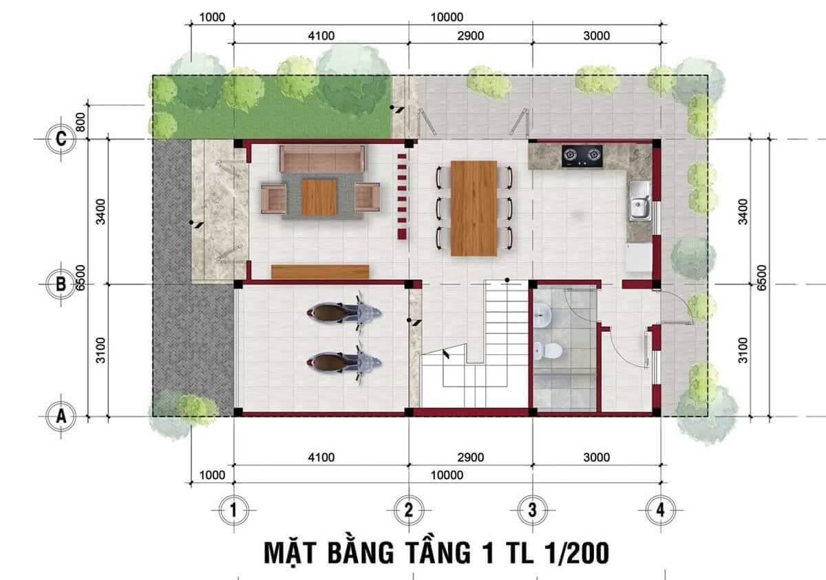 mat bang nha The Residence 1