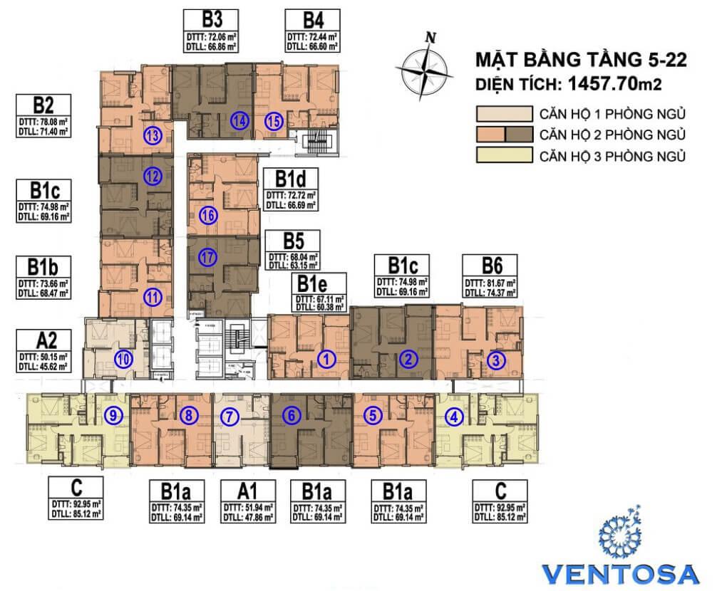 mat bang tang ventosa