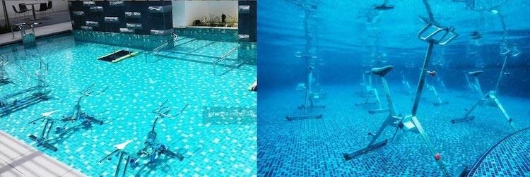 máy tập gym dưới nước