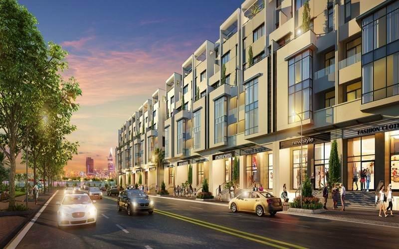 Phố thương mại sầm uất bên trong dự án Saigon Mystery Villas