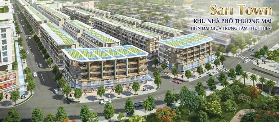Phối cảnh dự án Sari Town Sala