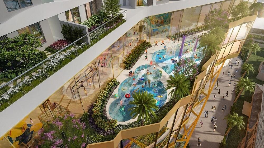 Phối cảnh hồ bơi dự án D-Homme q6