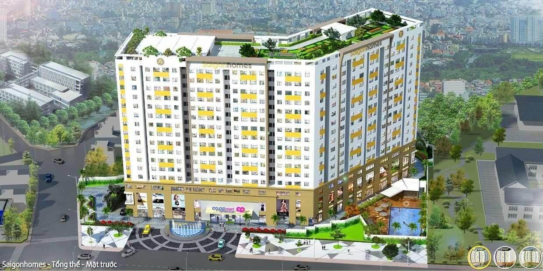Phối cảnh tổng thể dự án chung cư Saigonhomes