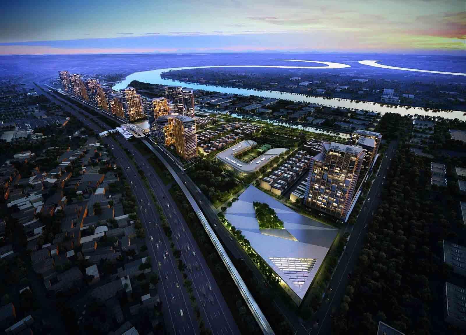 Saigon Quays Thủ Đức là khu đô thị duy nhất tại Tp. Hồ Chí Minh sở hữu 3 mặt tiền sông