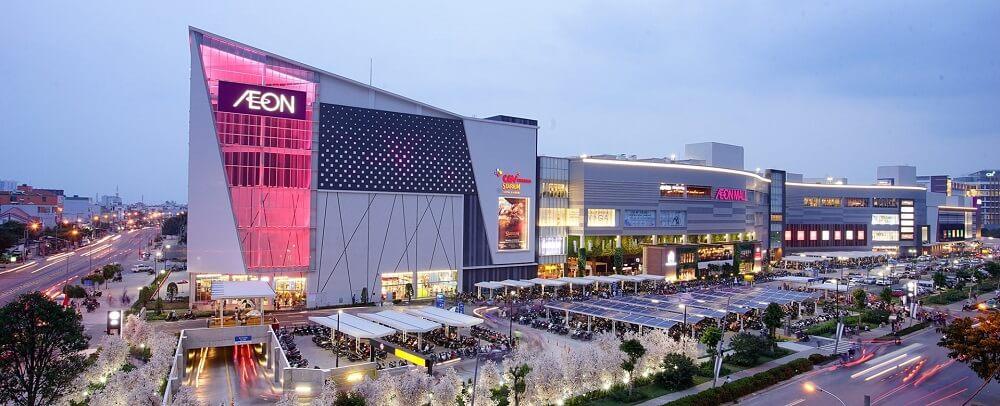 Siêu thị Aeon Mall khu tên lửa quận Bình Tân cách dự án D Homme khoảng 4km