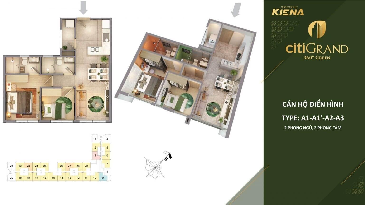 thiết kế căn hộ Citi Grand