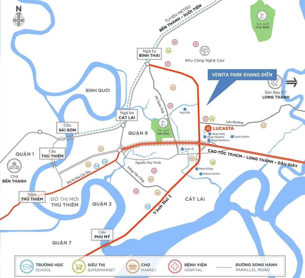 vi tri Venita Park Khang dien