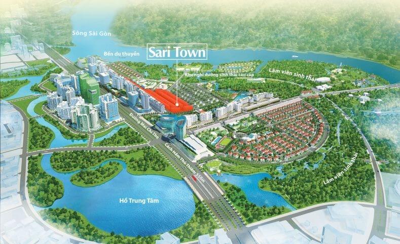 vị trí Sari Town Sala