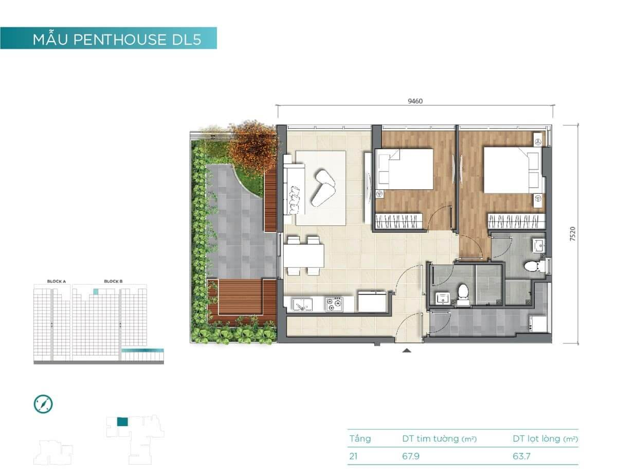 hinh anh can ho penthouse D'Lusso