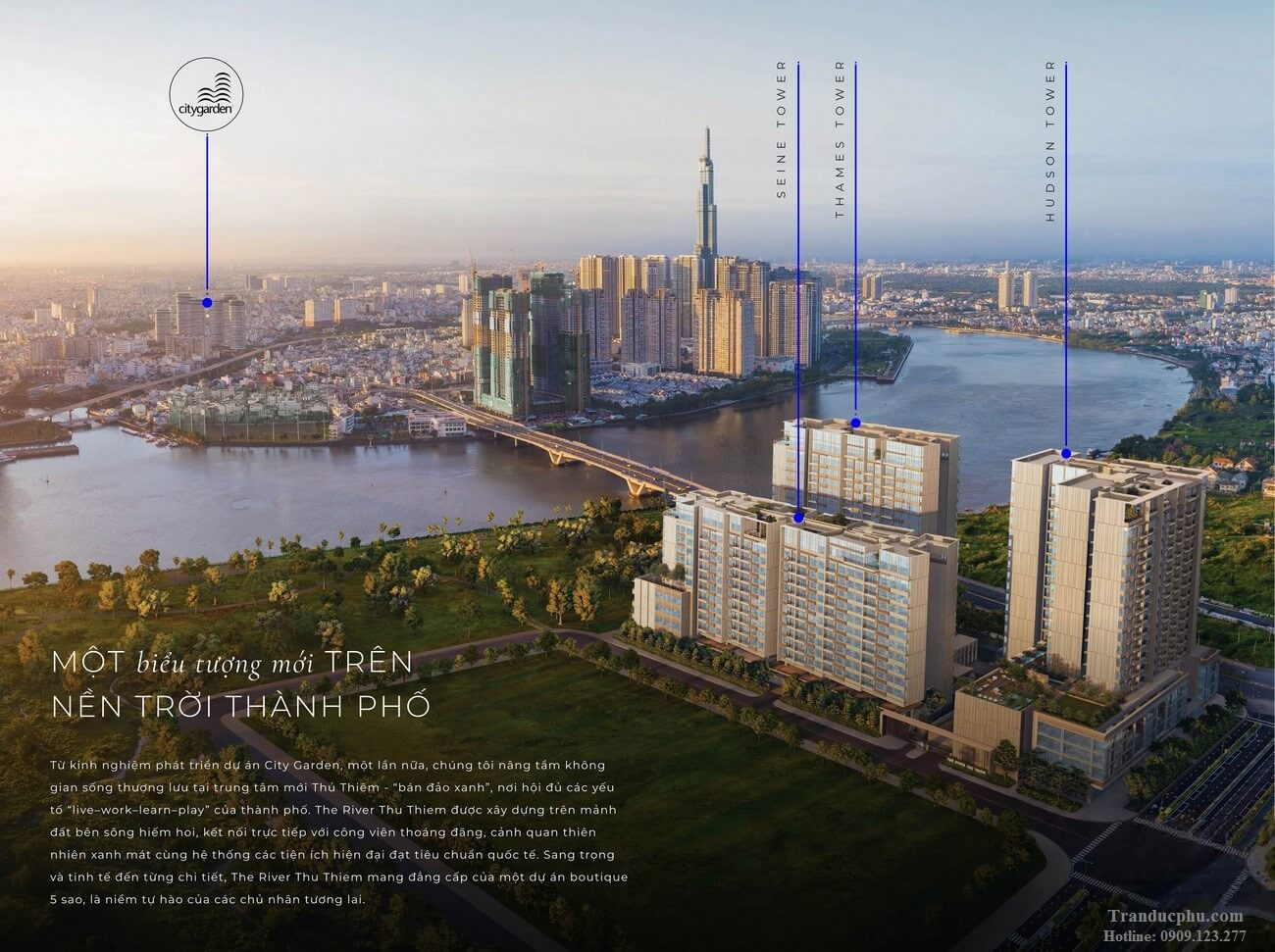 phoi canh The River Thu Thiem