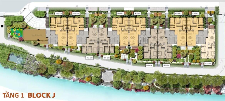Mặt bằng tầng 1 Bolck J dự án Panomax River Villa